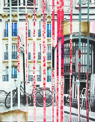 Mixed Media - Mixing Memories Paris by Elena Nosyreva