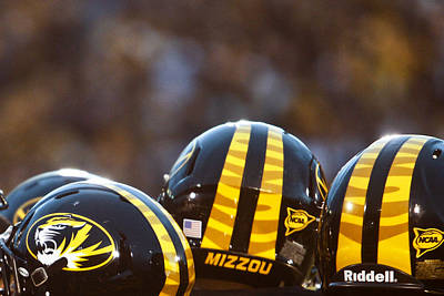 Mizzou Football Helmet Art Print by Replay Photos