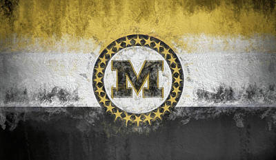 Digital Art - Mizzou State Flag by JC Findley
