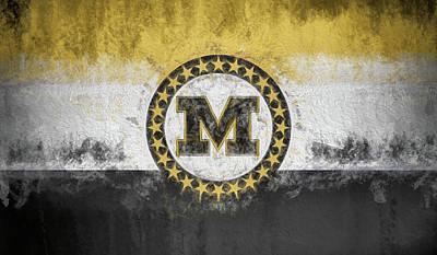 Digital Art - Mizzou State Flag by JC Findley