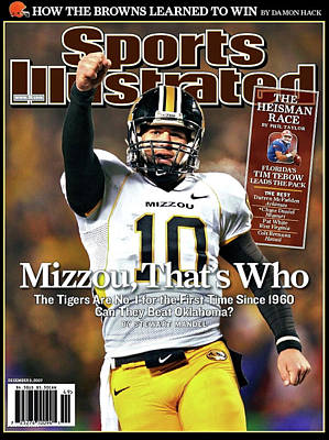 Mizzou That's Who, Sports Illustrated, Chase Daniel Art Print