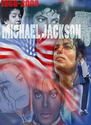 Michael Jackson Digital Art - Mj An American by Aldonia Bailey