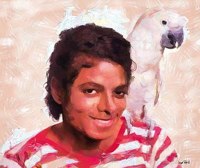 Painting - Mj And Polly by Wayne Pascall