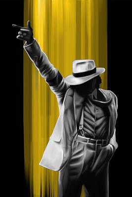 Michael Jackson Digital Art - MJ by Donald Lawrence