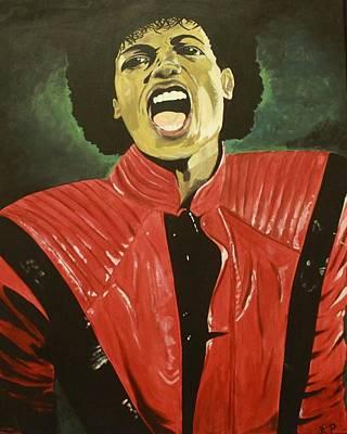MJ Art Print by Lakeisha Phillips