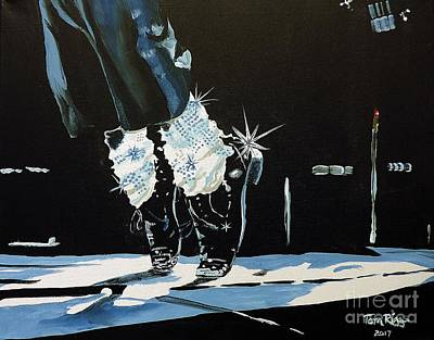 Painting - Mj On His Toes by Tom Riggs