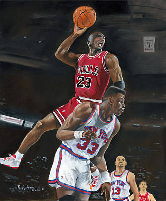 MJ Art Print by Raymond Johnson