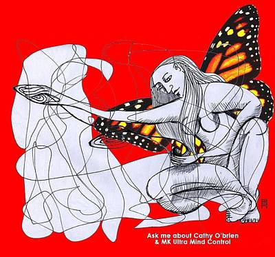 Drawing - Mk Ultra Series Cathy O'brien by Joanna Whitney