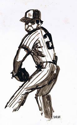 Sethweaver Drawing - Mlb The Pitcher by Seth Weaver
