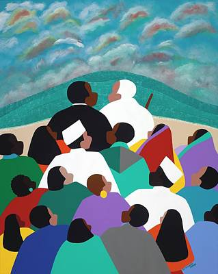 Painting - Mlk Called To Serve by Synthia SAINT JAMES