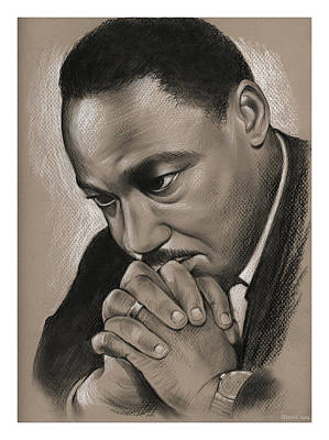 Civil Rights Drawing - MLK by Greg Joens