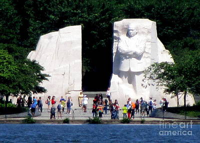 Mlk Memorial 1 Art Print by Randall Weidner