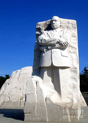 Mlk Memorial 3 Art Print by Randall Weidner