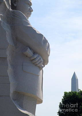Mlk Memorial 4 Art Print by Randall Weidner