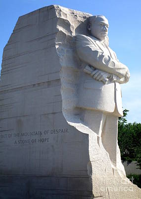 Mlk Memorial 6 Art Print by Randall Weidner