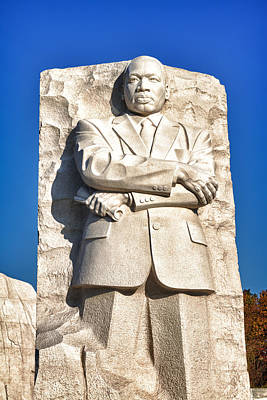 Black Russian Studio Photograph - Mlk Memorial In Color by Val Black Russian Tourchin