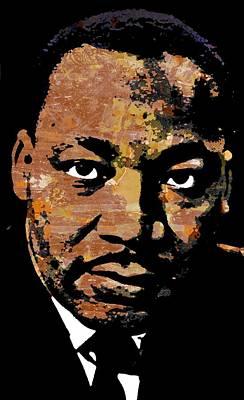 Civil Rights Movement Mixed Media - MLK by Otis Porritt