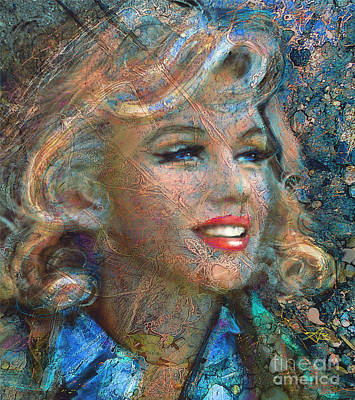 Portrait Painting - Mm Ice Blue by Angie Braun