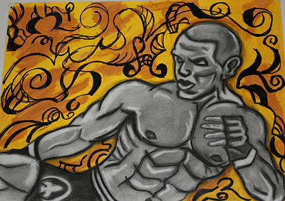 Mma Fighter Art Print by Jasmine Harris