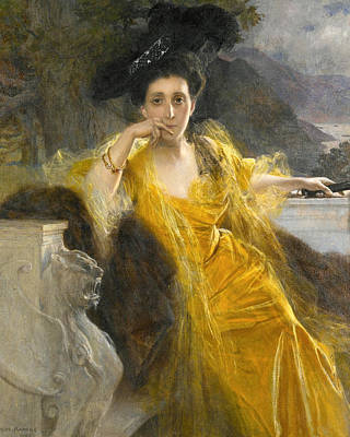 Marie-louise Painting - Mme Marie-louise Fould Nee Heine by Francois Flameng