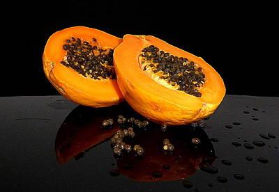 Photograph - Mmmm Yum  Papaya by Lori Seaman