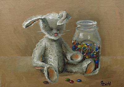 Painting - Mms Bunny by Grace Diehl
