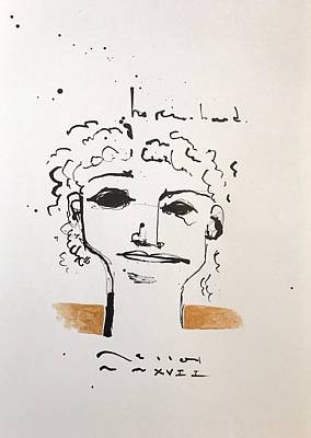 Drawing - Mmxvii He Remembered  by Mark M Mellon