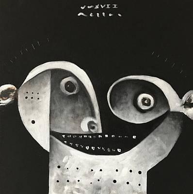 Mmxvii Masks For Despair No 1  Art Print by Mark M Mellon