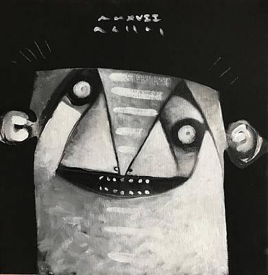 Mmxvii Masks For Despair No 3  Art Print by Mark M Mellon