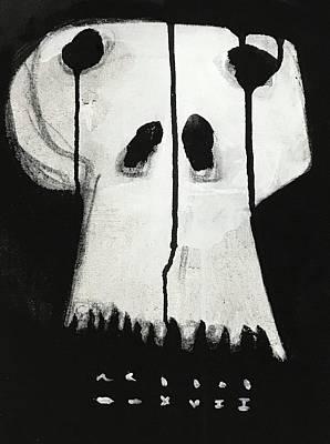 Outsider Art Painting - Mmxvii Skulls No 1  by Mark M Mellon