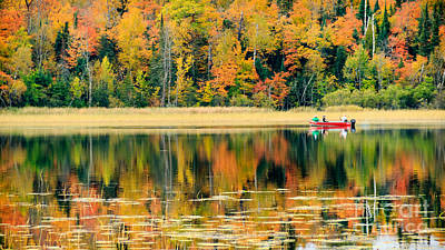 Photograph - Mn Fall Fishing by Lori Dobbs