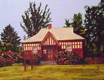 Painting - M.n. Spear Memorial Library by Therese Legere