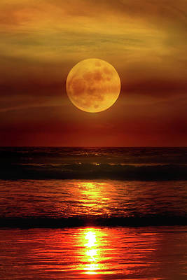 Full Moon Photograph - Tranquility by Mikes Nature