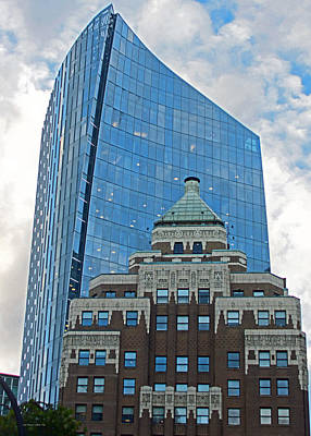 Photograph - M N P Tower And Marine Building Vancouver 2015 by Connie Fox