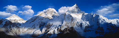 Mountain Photograph - Mnts Everest & Nuptse Sagamartha by Panoramic Images