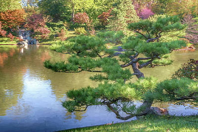 Photograph - Mo Bot Japanese Garden Photo Painting 7r2_dsc2725_10262017 by Greg Kluempers