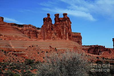 Art Print featuring the photograph Moab by Edward R Wisell