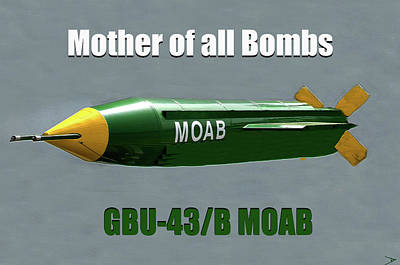 Painting - Moab Gbu-43/b by David Lee Thompson