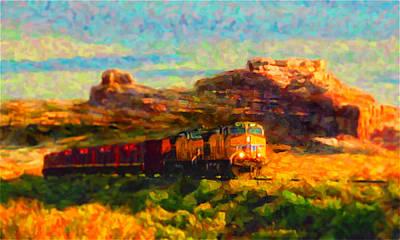 Digital Art - Moab Morning by Chuck Mountain