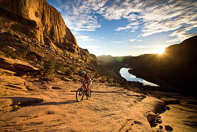 Photograph - Moab Mountain Biking 2 by Whit Richardson