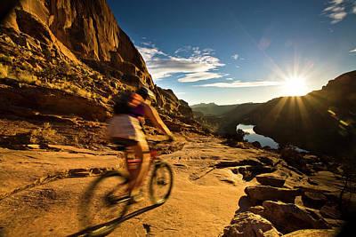 Photograph - Moab Mountain Biking by Whit Richardson