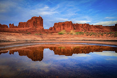 Moab Reflections Print by Edgars Erglis