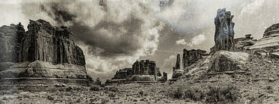 Photograph - Moab Retro Panorama by OLena Art Brand