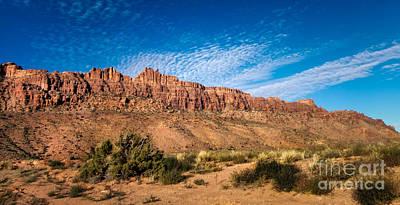 Photograph - Moab Rim by Bob and Nancy Kendrick