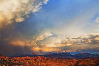 Desert Sunset Photograph - Moab Sunset by Dan Norris