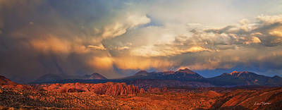 Desert Sunset Photograph - Moab Sunset Panorama by Dan Norris