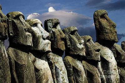 Photograph - Moai Easter Island Rapa Nui 10 by Bob Christopher