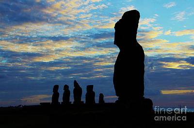Photograph - Moai Easter Island Rapa Nui 2 by Bob Christopher