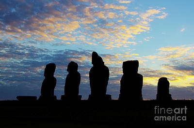 Photograph - Moai Easter Island Rapa Nui 3 by Bob Christopher