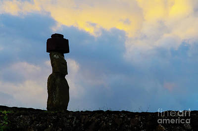 Photograph - Moai Easter Island Rapa Nui 4 by Bob Christopher